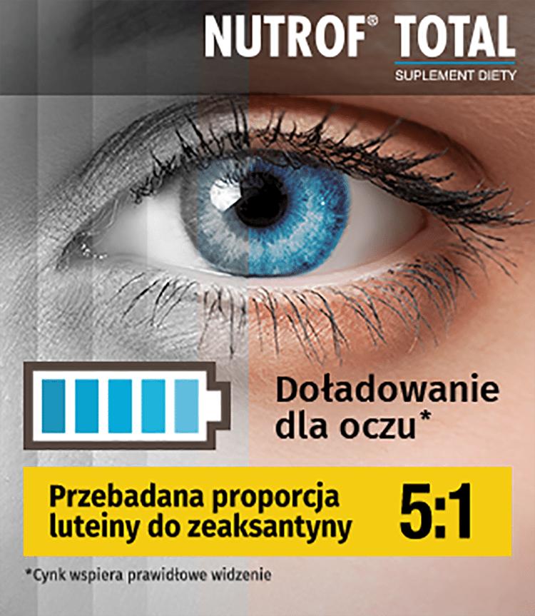 Nutrof Total - suplement diety na oczy z luteiną i zeaksantyną