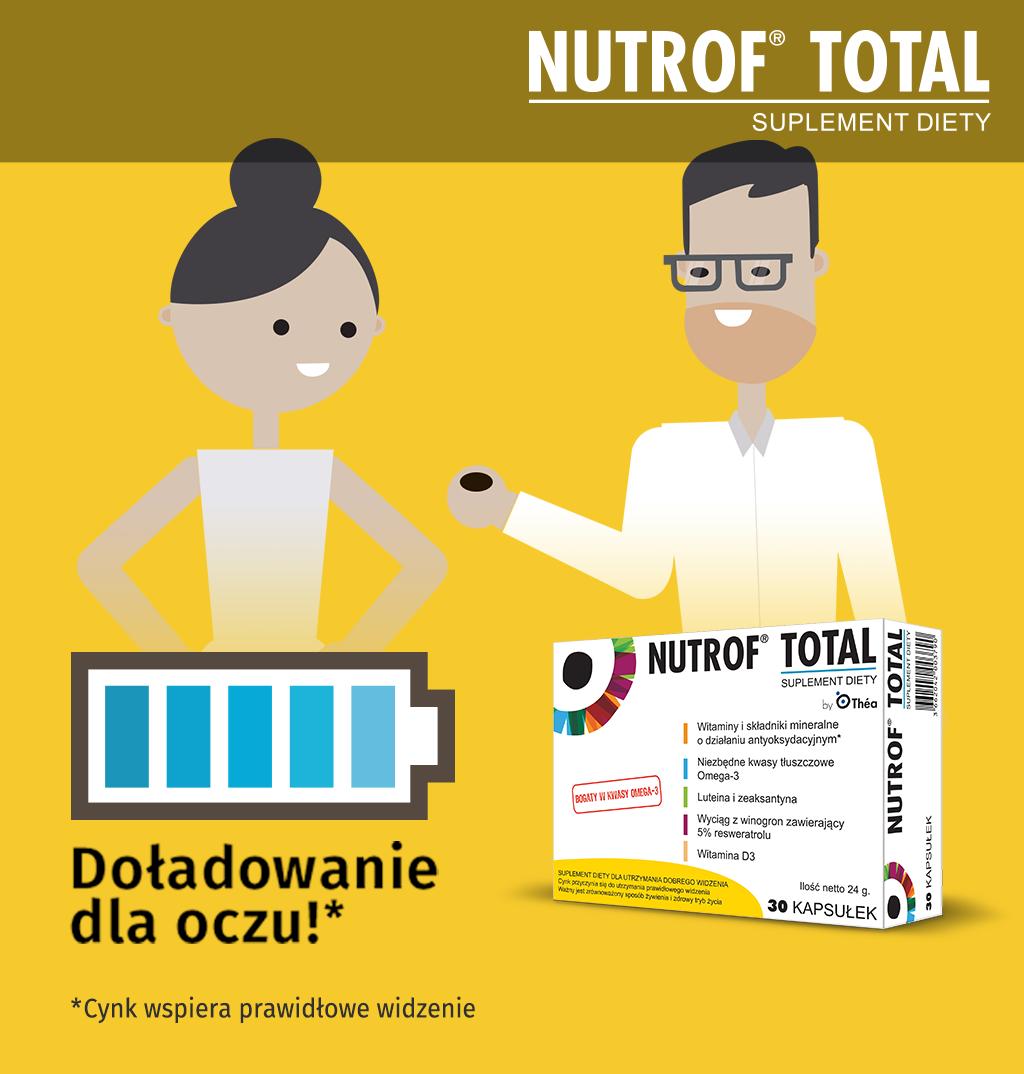 Nutrof Total - suplement diety na oczy - doładowanie dla oczu