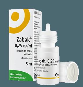 Krople do oczu na alergię Zabak